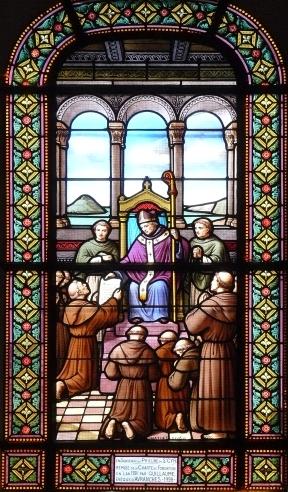 Vitrail de l'église de Saint-Cyr-du-Bailleul