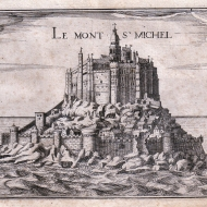 Le Mont Saint-Michel (gravure de Nicolas [Christophe] Tassin, XVIIe siècle) (c) coll. privée