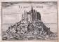 Le Mont Saint-Michel (gravure de Nicolas [Christophe] Tassin, XIIe siècle) (c) coll. privée