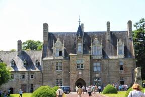 La façade du manoir de Brion (sortie du 13 juillet 2013)